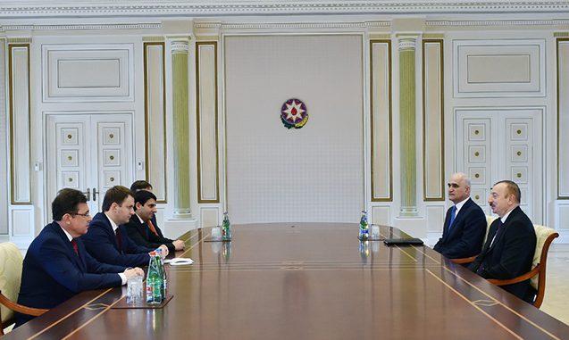 Prezident Rusiyanın iqtisadi inkişaf nazirini qəbul edib