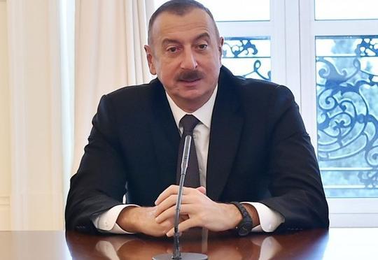 İlham Əliyev Artur Rasi-zadəyə təşəkkürünü bildirdi