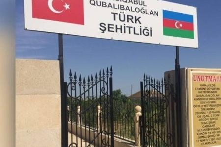 Hacıqabuldakı Türk Şəhidliyinin lövhələri sökülüb – vandalizm