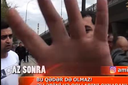"""""""Space"""" TV-nin əməkdaşına hücum edildi, kamerası qırıldı – Polis işə qarışdı (VİDEO)"""