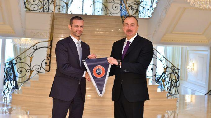 """""""Bakıda dünya miqyaslı iki futbol tədbiri keçiriləcək"""" – UEFA prezidenti"""