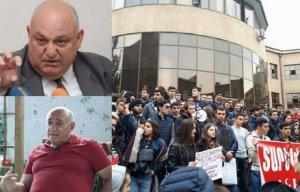 Yerevanda universitet tələbələri rektorun istefasını tələb edir