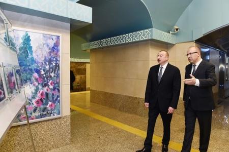 """""""Sahil"""" metrostansiyası istifadəyə verildi – Prezident açılışda (FOTOLAR)"""