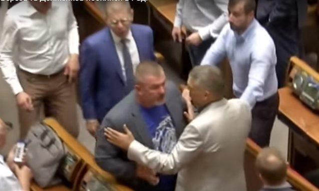Ukraynalı deputatlar yenə əlbəyaxa oldular – Video