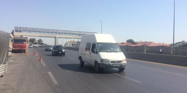 Bakıda bu yolda tıxacda qalanlara şad xəbər (FOTO)
