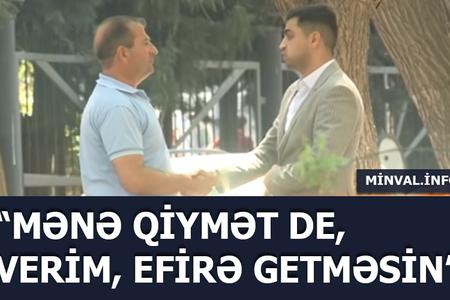 """""""Space"""" TV-nin efirində rüşvət görüntüsü – GİZLİ ÇƏKİLİŞ"""