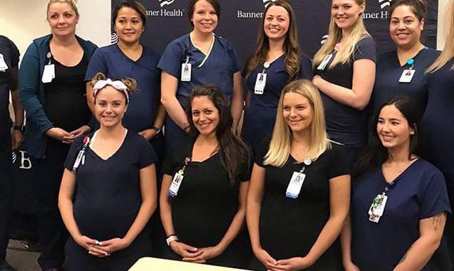 Xəstəxananın 16 tibb bacısı eyni vaxtda hamilədir – Fotolar